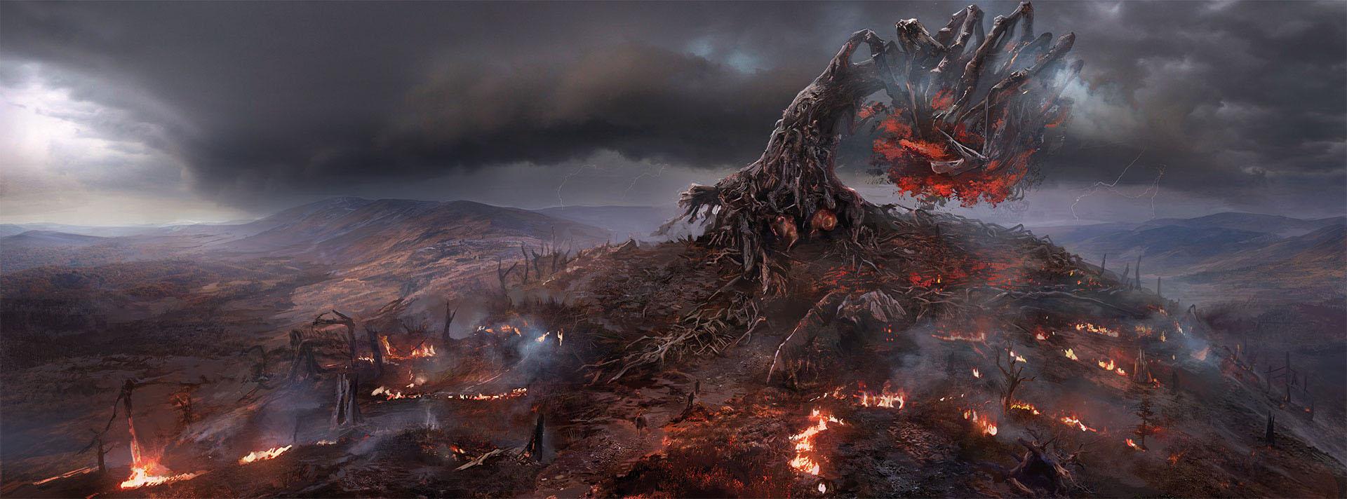 Cen�rio do jogo The Witcher 3