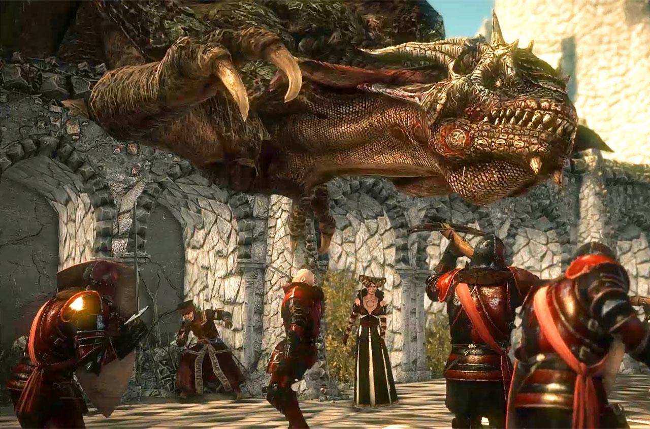 Drag�o em The Witcher 2