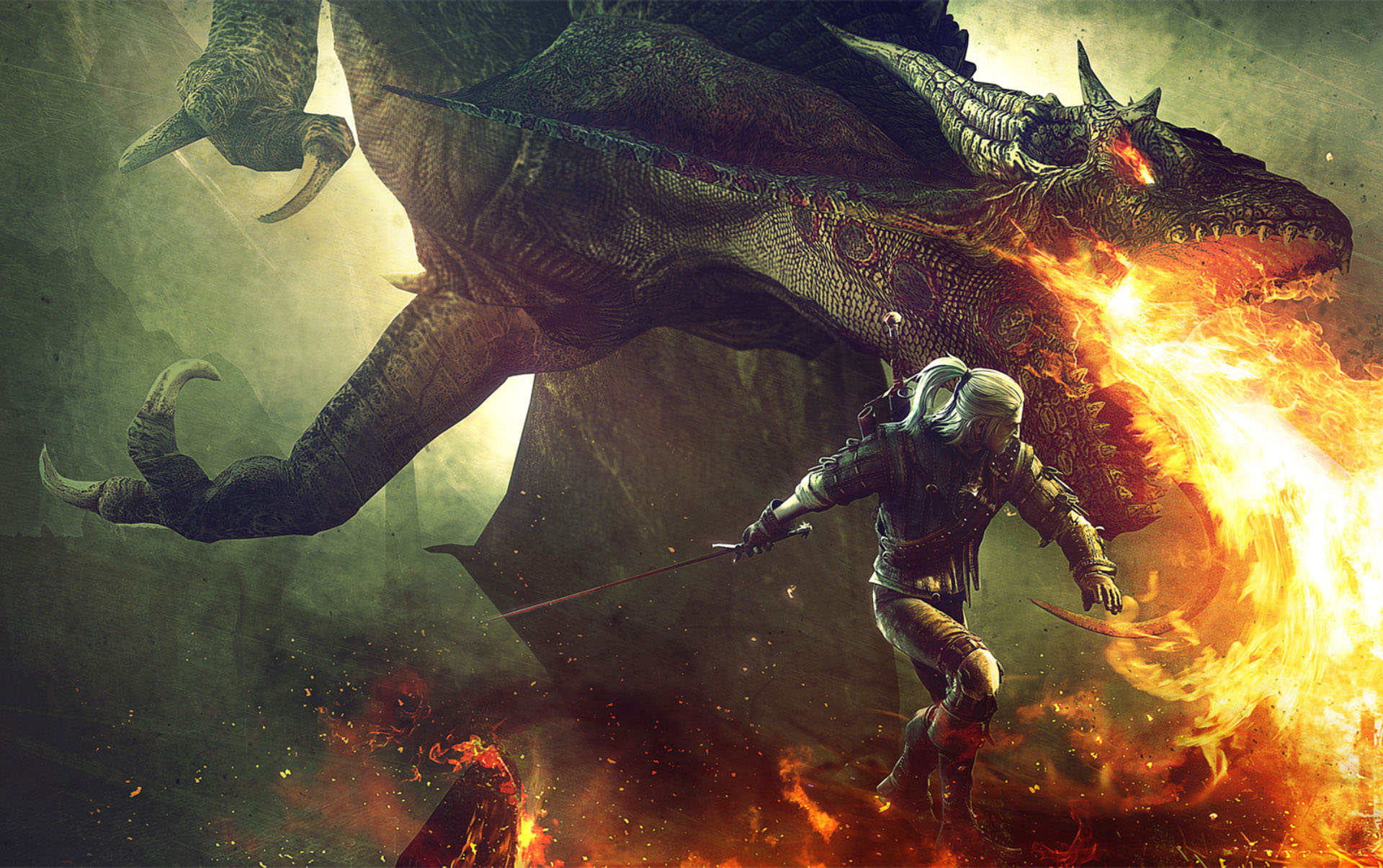 Dragons on The Witcher 3