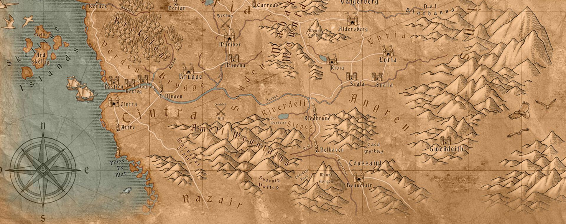 Mapa do mundo de the witcher