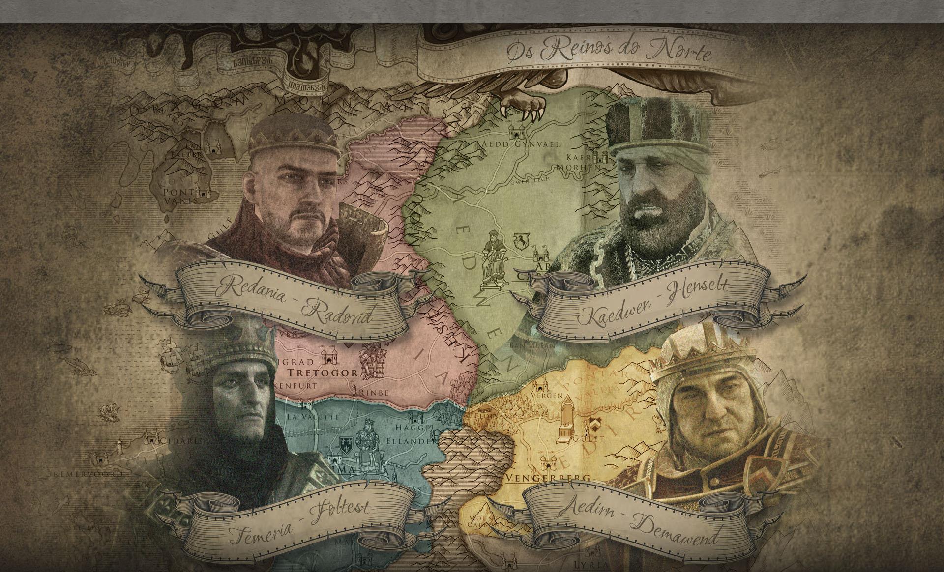 Mapa do Reino do Norte
