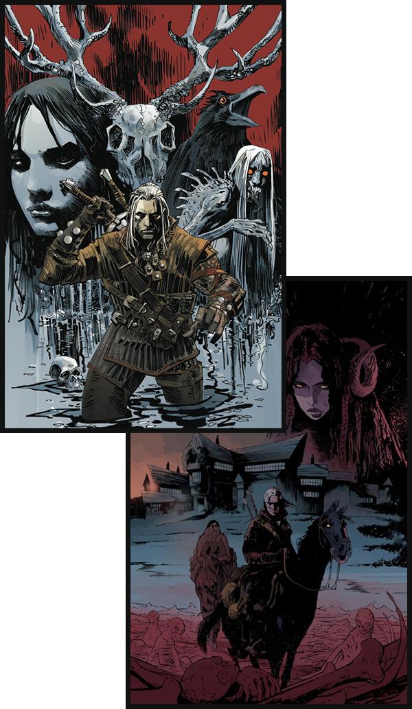 P�ginas dos quadrinhos de The Witcher