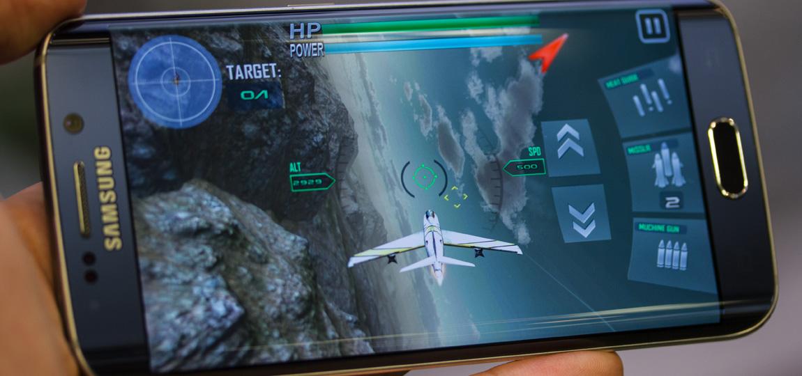 Galaxy S6 EDGE rodando jogos